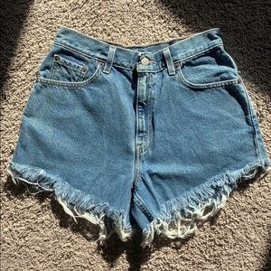 VINTAGE LEVI'S Denim Cut Off Shorts | Size M